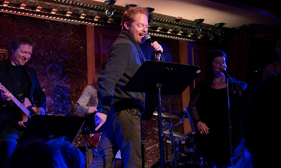 May 1: Jesse Tyler Ferguson tried his hand at karaoke during the A is For at their 2nd annual Broadway Acts for Women benefit at 54 Below in NYC. 