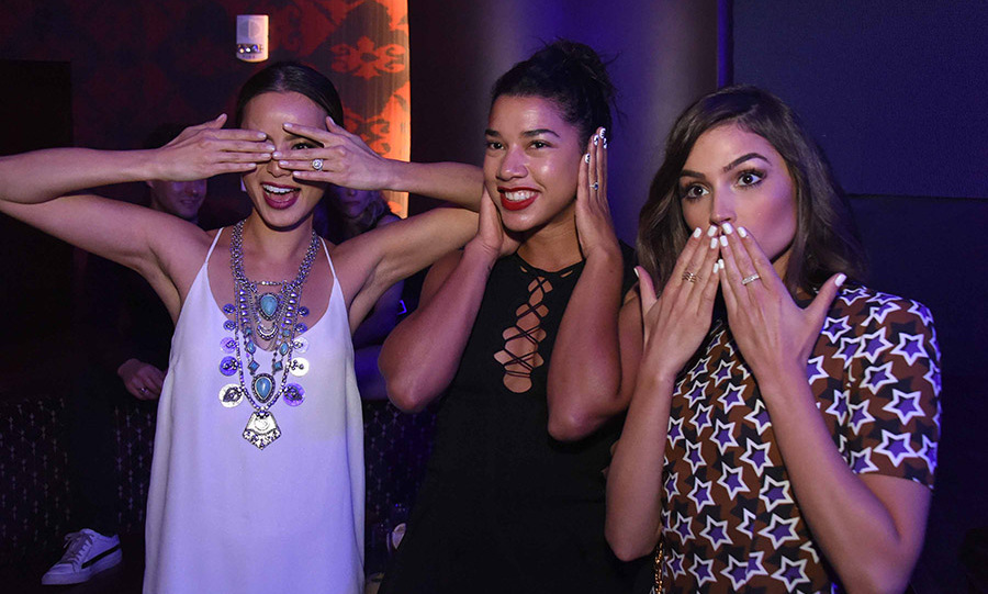 April 30: All of the fun! Jamie Chung, Hannah Bronfman, and Olivia Culpo got silly during the opening of Premier Nightclub inside Atlantic City's Borgata Hotel Casino & Spa.
