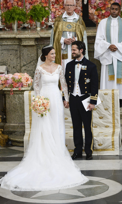 Kate middleton to crown princess victoria a gallery of for Swedish wedding dress designer