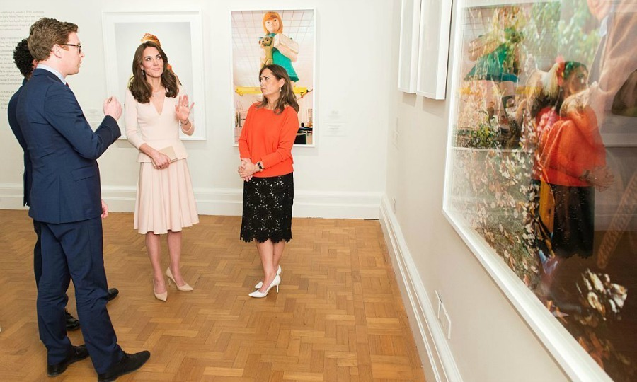 The Duchess of Cambridge was given a private tour to enjoy the works in the exhibition. 