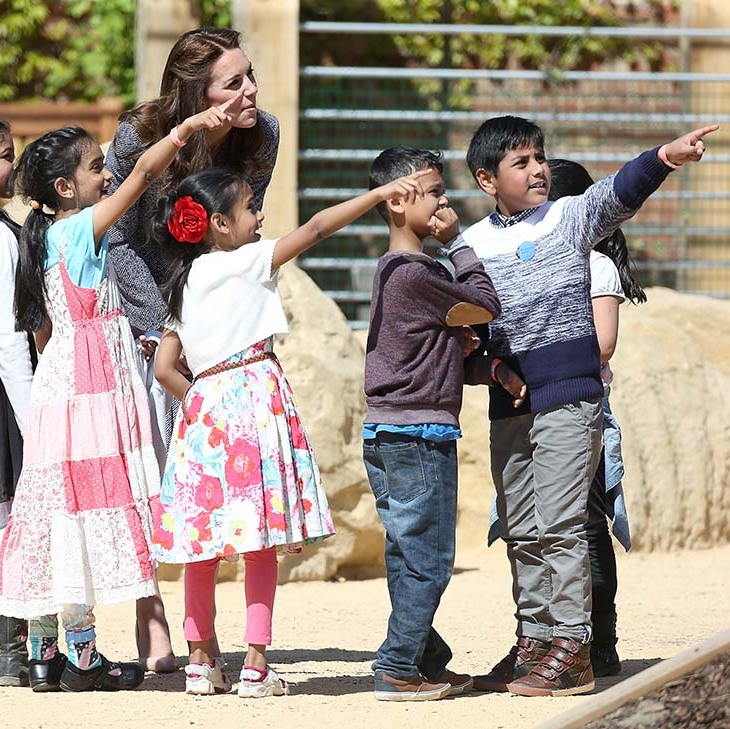 Kate had a great time bonding with the youngsters at the park.