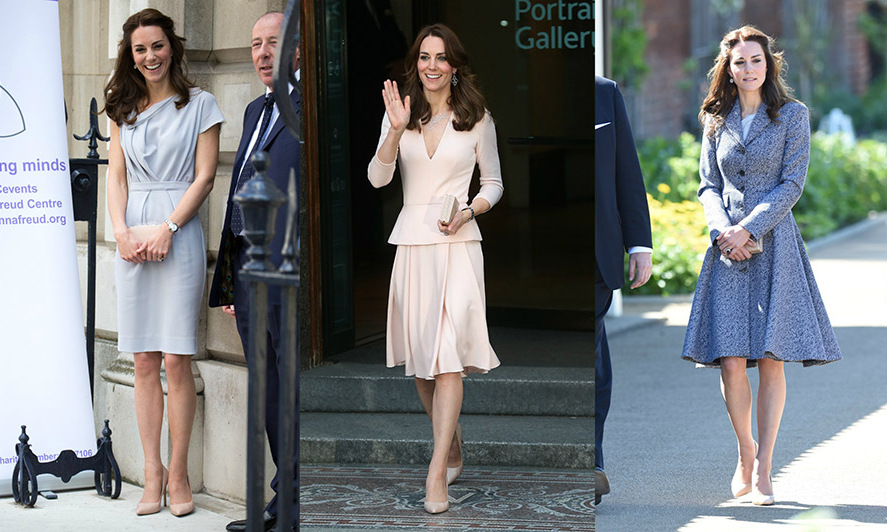 Kate Middleton is on the go! As she made her way to three royal engagements on Wednesday, she kept up her chic style. Click through for a gallery of the best moments from her busy day. 