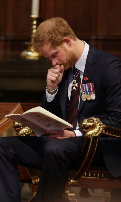 Prince Harry became overwhelmed with emotion during a a service of commemoration and thanksgiving to mark Anzac Day at Westminster Abbey in London.