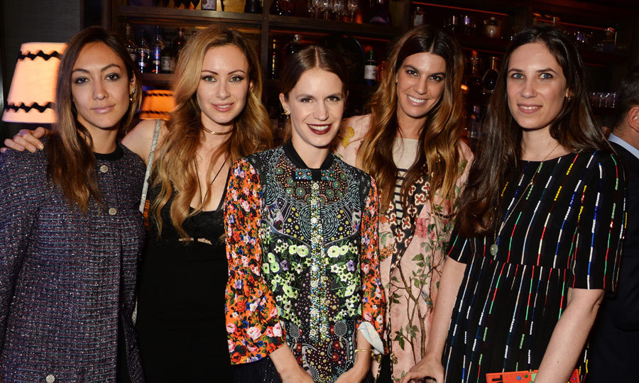 Girls' night! Tatiana Casiraghi (right) was joined by Fiorina Benveniste-Schuler, Camilla al Fayed, Eugenie Niarchos, Bianca Brandolini D'Adda attended the launch of the new Venyx Oseanyx at Sexy Fish in London.