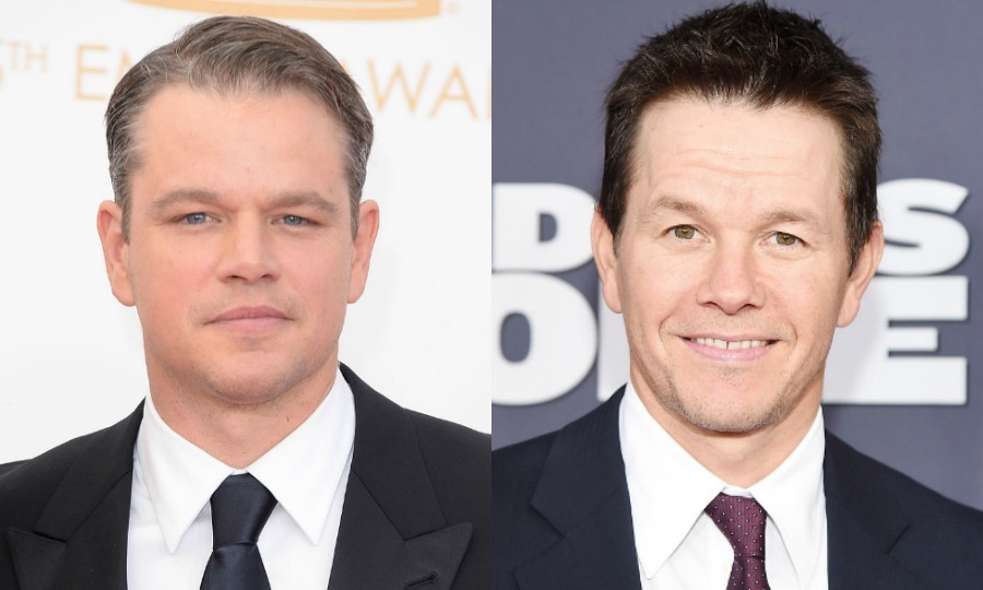 "Matt Damon (left) and Mark Wahlberg (right) are often confused by fans, so the hunky actors decided to create a pact. ""I do get confused with Mark Wahlberg a lot, and we just have a deal that whenever we get mistaken for each other we have to be very polite. Can't give the other a bad name,"" he said during a Reddit AMA in 2014.