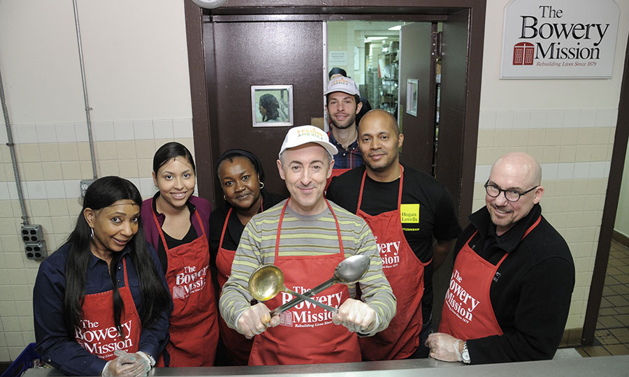 May 5: Giving back! <i>The Good Wife</i> star Alan Cumming took some time out of his busy schedule to volunteer with Feeding America at the Bowery Mission in NYC. 