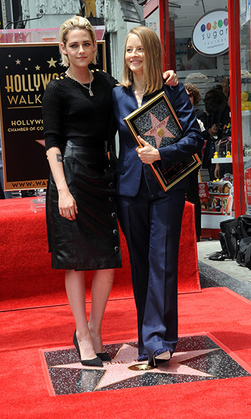 May 04: Kristen Stewart honored Jodie Foster during the veteran actress' Hollywood Walk of Fame ceremony in Hollywood. 