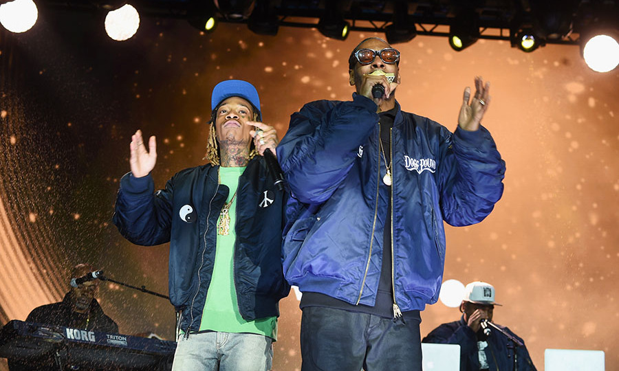 May 3: Rapper's delight! Wiz Khalifa and Snoop Dogg brought the house down during their performance at the 2016 AOL NewFront ceremony. 