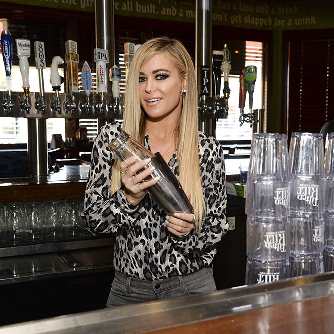 May 3: Shaken not stirred! Carmen Electra guest bartended at the Tilted Kilt in Thousand Oaks. 