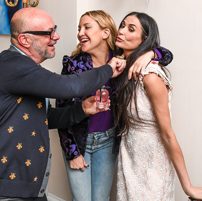 May 1: Smelling sweet! Eric Buterbaugh treated Kate Hudson and Demi Moore to some wonderful scents during the EB Florals by Eric Buterbaugh launch party in NYC.  