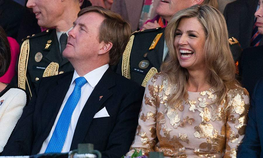 Queen Maxima made a dazzling appearance in Amsterdam  as she and her husband, King Willem-Alexander, took part in the Liberation Day celebrations.