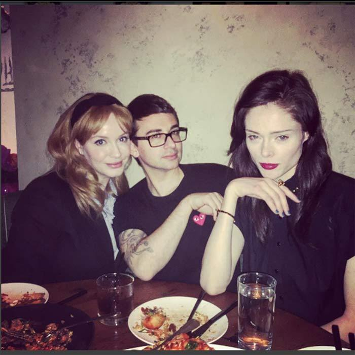 May 5: Christina Hendricks celebrated her birthday with close friends Coco Rocha and designer Christian Siriano at VANDAL in NYC.