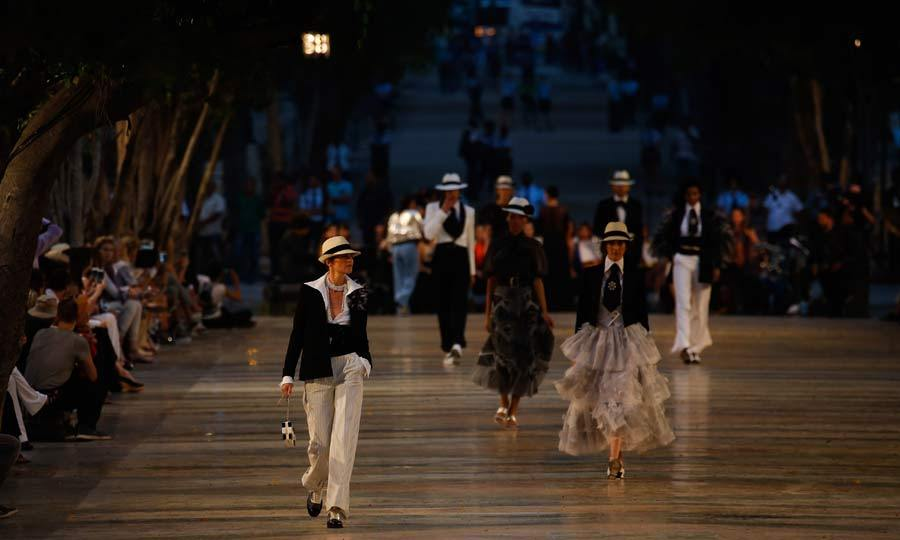 May 4: Chanel takes Cuba! Karl Lagerfeld took his models to Havana to present Chanel's latest Cruise Collection.