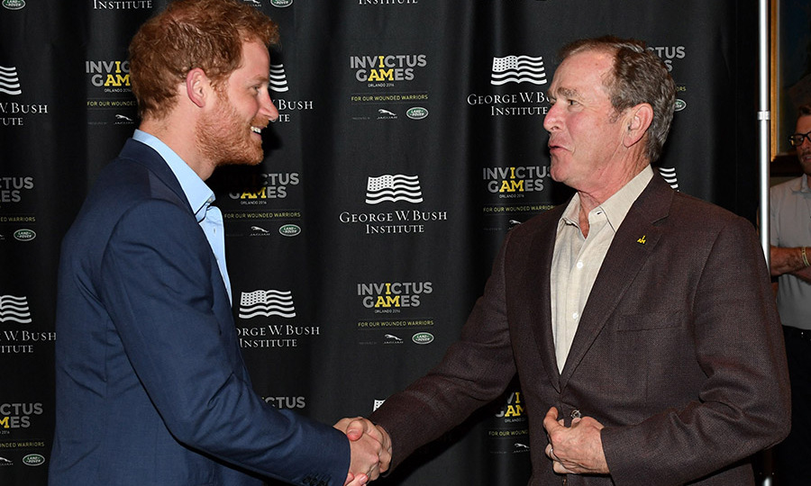 Former President George W. Bush also helped Prince Harry kick off the Invictus Games.  