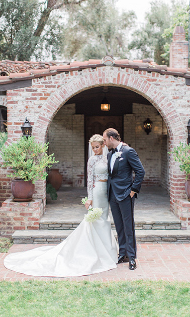 May 7: #JustMarried! <i>Rich Kids of Beverly Hills</i> stars Morgan Stewart and Brendan Fitzpatrick tied the knot at Hummingbird Nest Ranch in Santa Susana, CA.