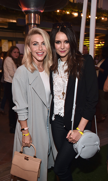 May 7: Girls' day! Julianne Hough and Nina Dobrev looked chic inside the City Year Los Angeles Spring Break event in L.A.