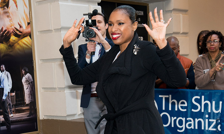 May 8: Final curtain call! Jennifer Hudson waved to fans as she ended her run in Broadway's <i>The Color Purple</i> at the Bernard Jacobs Theater in NYC. 