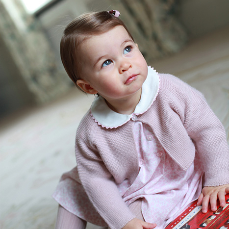 "During a trip to Cambridge University, Prince William  described his 5-month-old daughter Princess Charlotte as very ""lady-like.""