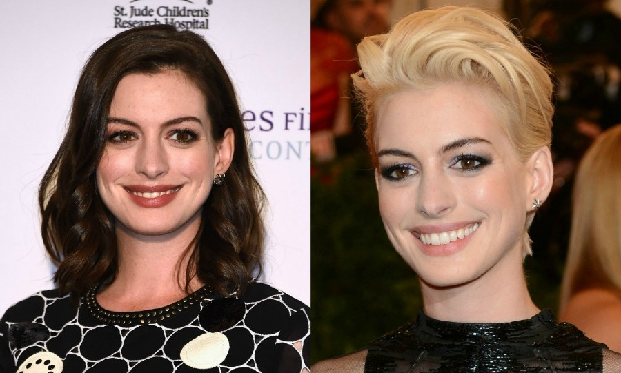 <b>Anne Hathaway's</b> tried everything! From long to short, blonde and brunette the <i>Devil Wear's Prada</i> star can do it all. 