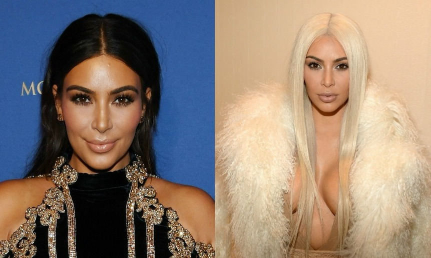 <b>Kim Kardashian</b> is famously known for her signature dark, middle-parted hair, so she had fans buzzing when she did a complete 180 with a platinum wig. 