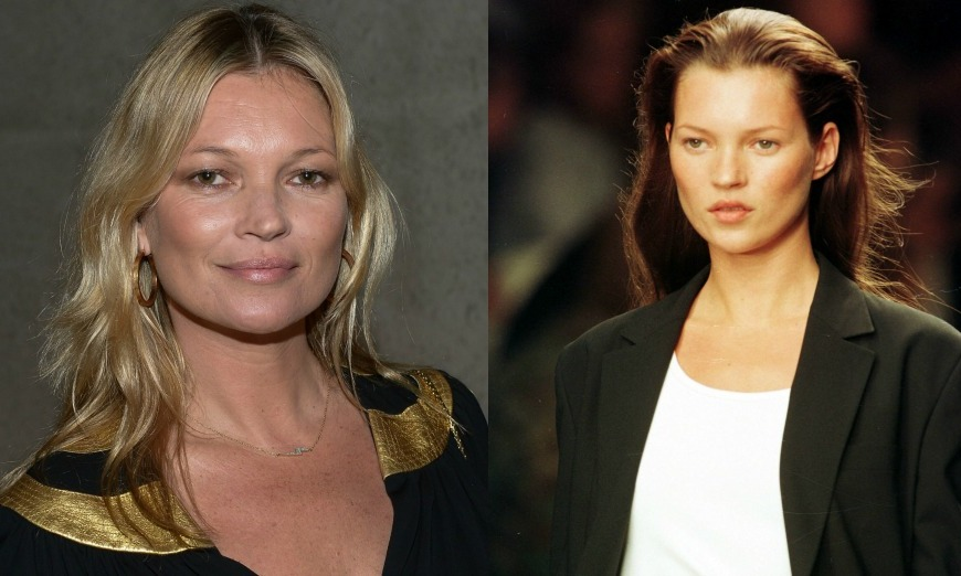 <b>Kate Moss</b> stuck to her natural tone during her 90's supermodel days, which the icon has evolved into a blonde style. 
