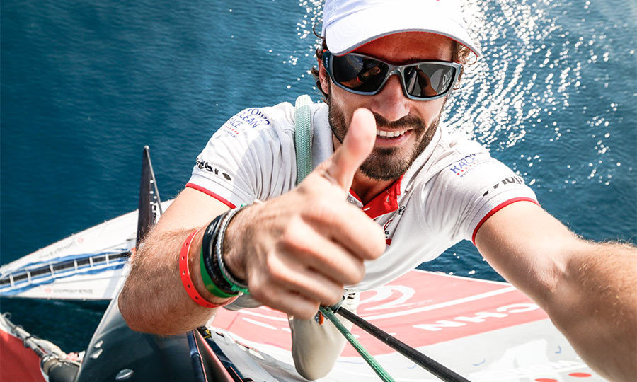 Known as being a bit of a thrill seeker, Carl Philip climbed almost 100 feet up in the air on a sailboat during the Volvo Ocean Race and took a selfie — even while the boat was on a 20-degree angle.