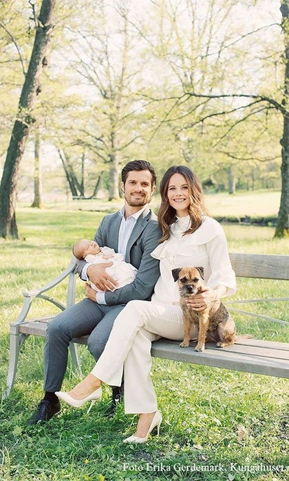 On April 19, 2016, the couple welcomed their first child, a son, Alexander, officially titled Prince Alexander Erik Hubertus Bertil, Duke of Sodermanland.
