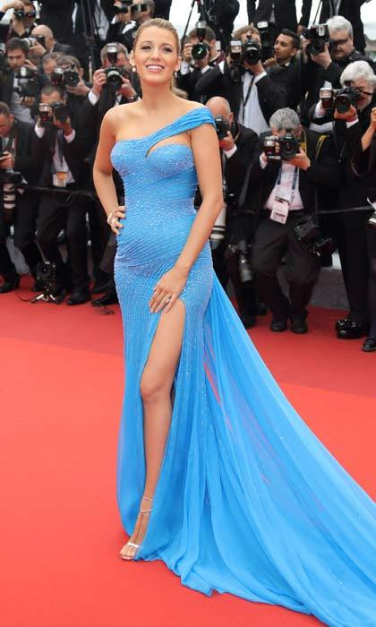 Blue is definitely her color! Blake looked sensational wearing a blue Atelier Versace gown at the Cannes premiere of Steven Spielberg's new film <i>The BFG</i>.