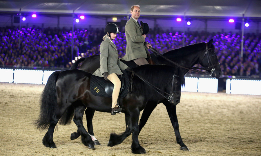 Queen Elizabeth's son Prince Edward and his daughter  Lady Louise Windsor also joined in on the fun parading Her Majesty's horses during the show.