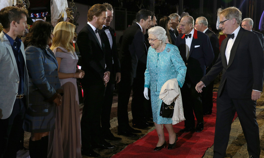 On hand for the final performance in honor of the Queen, was actor Damien Lewis, who greeted Her Majesty at Windsor.