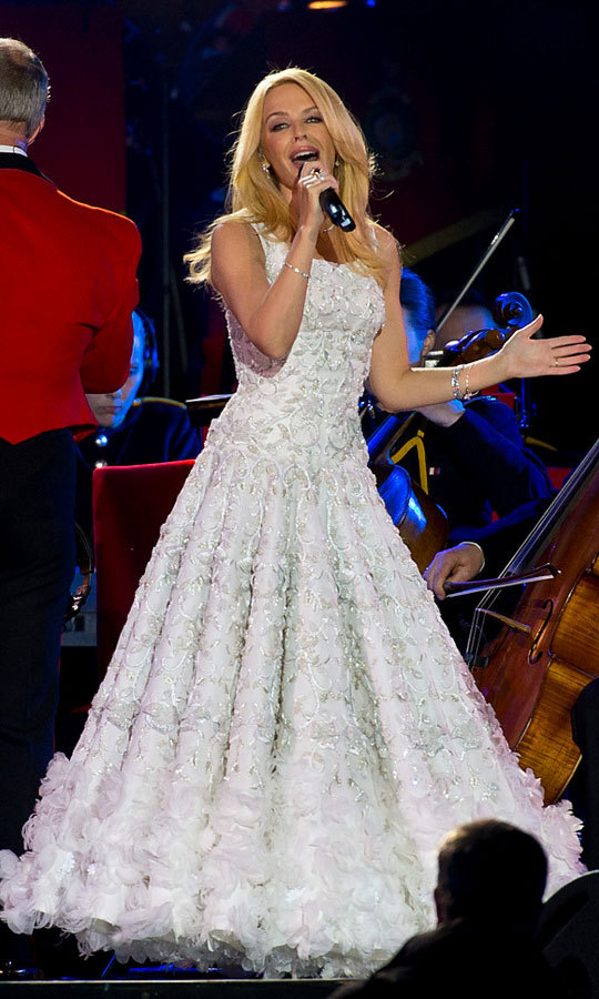 Australian singer Kylie Minogue performed a rendition of her song <i>I Believe In You </i> during the Queen's 90th Birthday Celebrations.