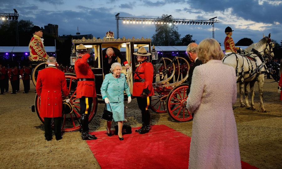 It was a celebration fit for a queen! England's longest reigning monarch, Queen Elizabeth attended the final performance of Her Majesty's 90th Birthday Celebrations held at Windsor Castle. 