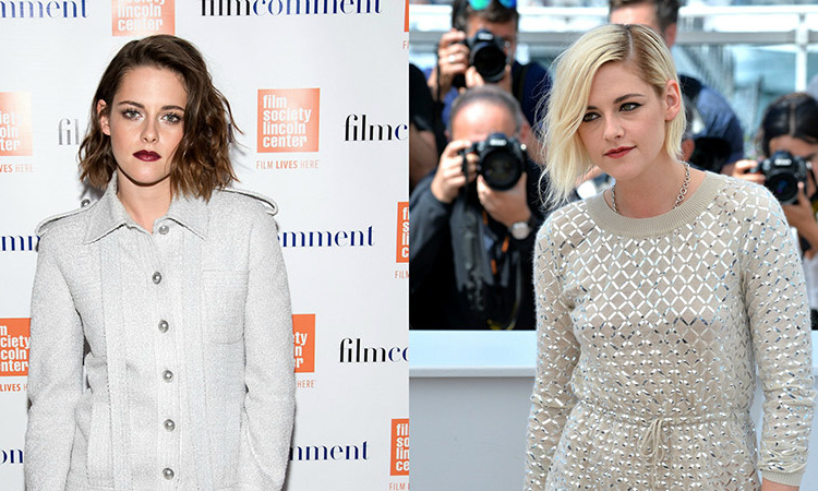 <b>Kristen Stewart</b> can make everything look edgy. From brunette to blonde, she gives a rockstar vibe to both styles.