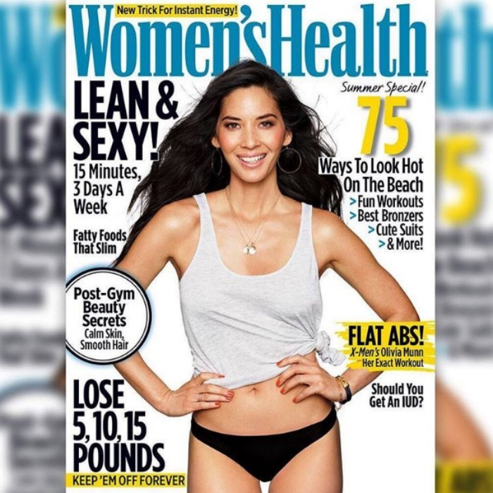 Olivia Munn opened up about her 12 pound weight loss in Women's Health's June issue.