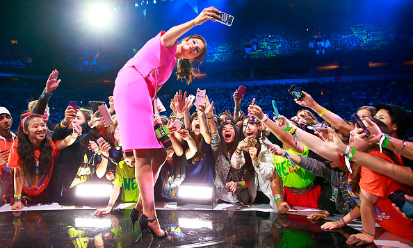 Selfie for a good cause! Selena Gomez inspired thousands of students at the 2014 We Day in Canada.