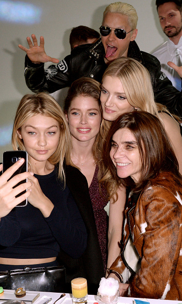 Something tells us, Gigi Hadid didn't mind this photobomb. Actor Jared Leto popped up behind the model's picture with Doutzen Kroes, Lily Donaldson and Carine Roitfeld during the Paris Fashion Week Tasting Night with Galaxy in 2015.