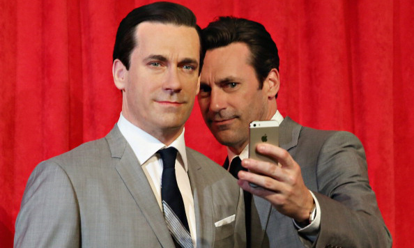 Two Jon Hamms are better than one. The <i>Mad Men</i> actor took a selfie with his Don Draper's wax figure at Madame Tussauds in New York.