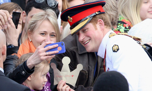 When Harry met this selfie fan... The British Prince stopped for a photo during two-day trip to Estonia.