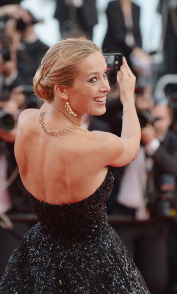 Petra Nemcova brought the glamour to her selfie from the Cannes red carpet in 2014.