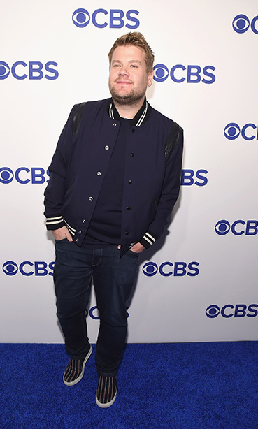 May 18: James Corden traded in his late night suit for a more relaxed look at the CBS Upfront presentation in NYC.