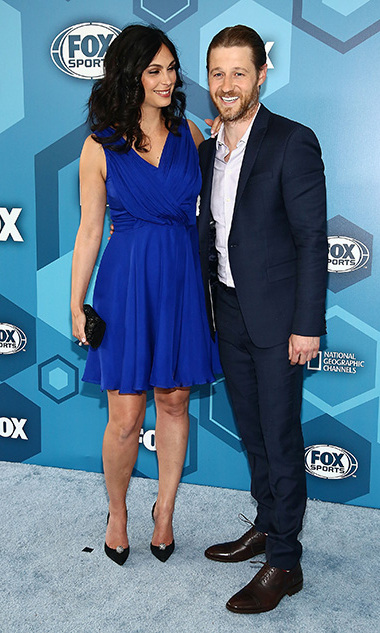 May 16! Coupled up! Morena Baccarin and Ben McKenzie left their baby girl at home for the Fox Upfront presentation in NYC. 