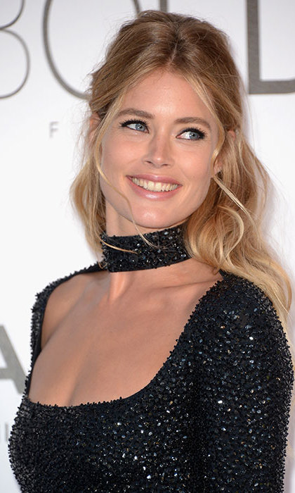 Doutzen Kroes channelled Brigitte Bardot with this chic half updo, with lots of volume packed at the roots and the bottom section left down in waves.