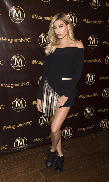 May 18: So sweet! Hailey Baldwin was on hand to create her own ice cream and open the brand new Magnum Ice Cream store in NYC. 
