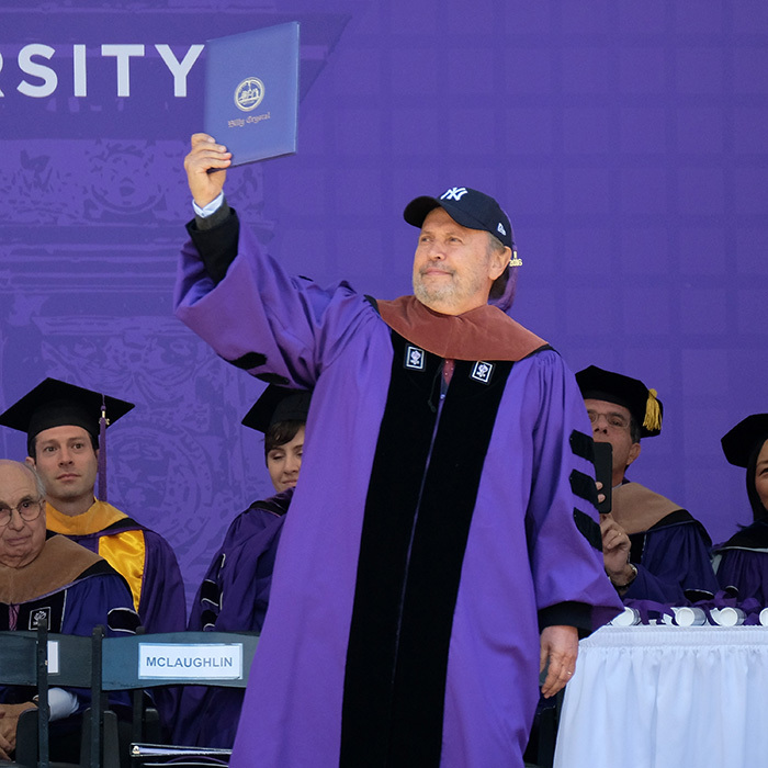 May 18: Congrats grad! Billy Crystal received an honorary doctorate degree during the 2016 New York University Commencement in New York City.