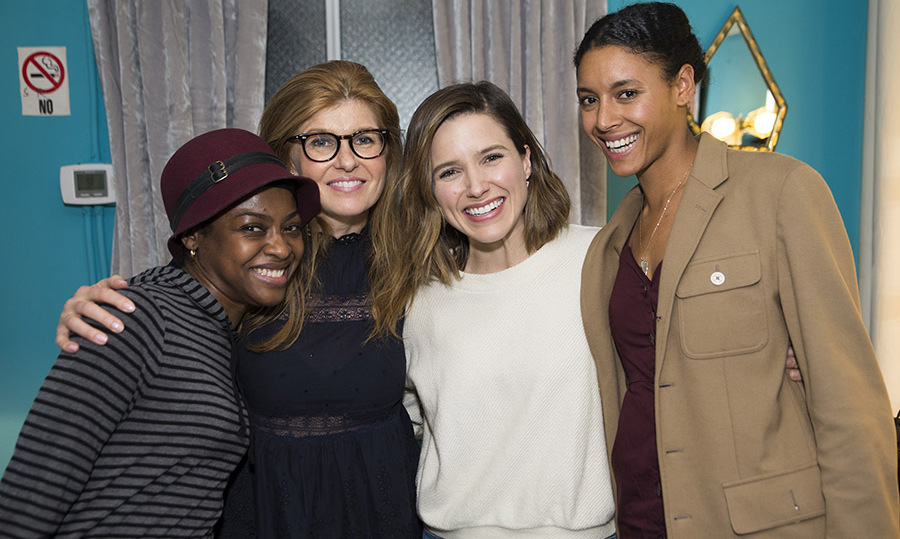 May 17: On Broadway! Connie Britton and Sophia Bush posed for a sweet photo with Pascale Armand and Jersey Banks after catching the Broadway show <i>Eclipsed</i> in NYC. 