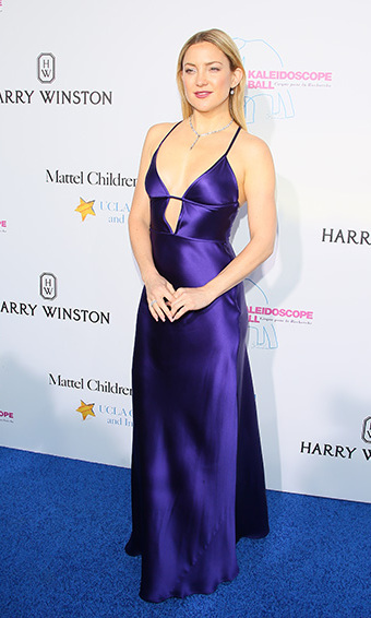 May 21: Sleek in purple! Kate Hudson stunned in a Amanda Wakeley dress and Harry Winston jewels at the Kaleidoscope Ball at 3LABS in Culver City. 