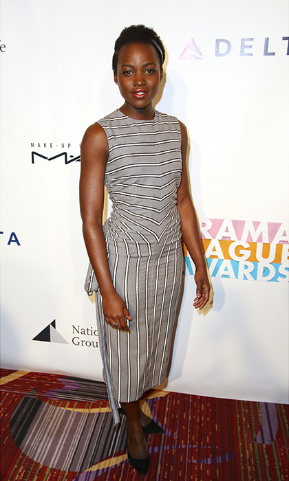 May 20: Style moment! Lupita Nyong'o wore a striped MONSE dress during the 82nd Annual Drama League Awards in NYC. 