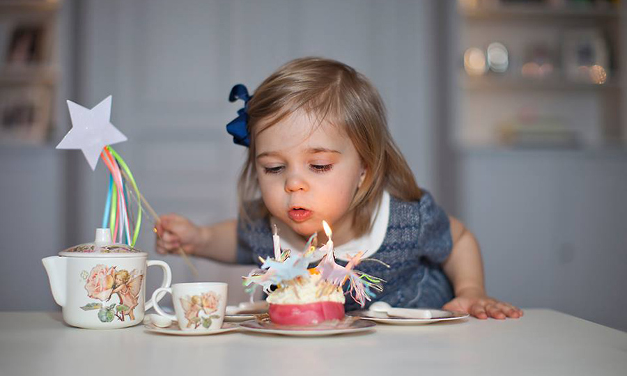 Sweet birthdays! Princess Leonore blew out her candles during her second birthday photoshoot. 