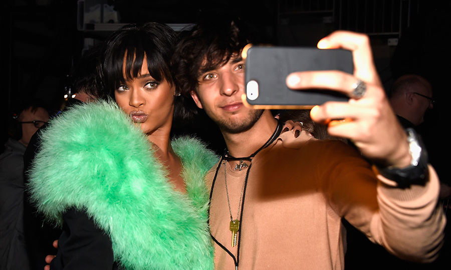 Rihanna proved that she is always photo ready during this selfie with a fan at the Billboard Music Awards. 