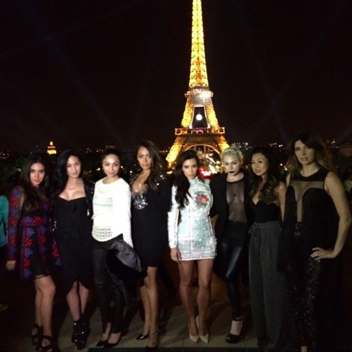 Before jetting off to Italy for her nuptials, Kim and her girls celebrated in Paris.